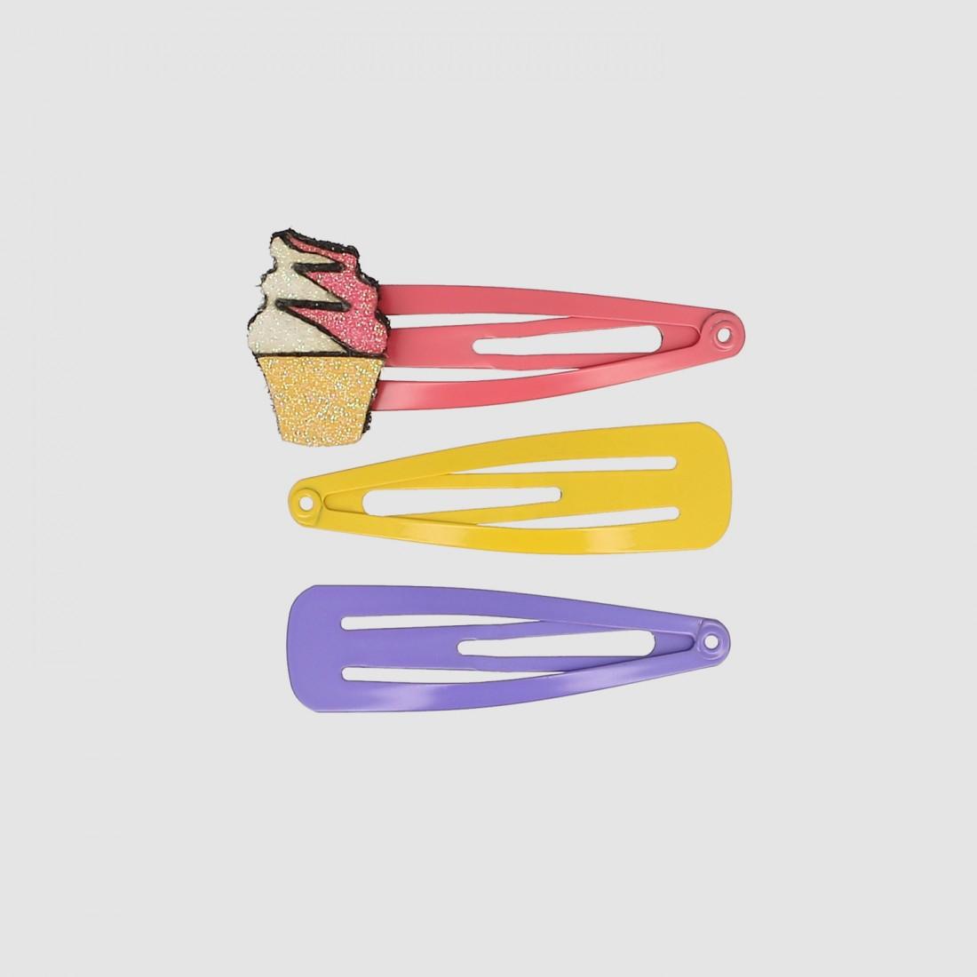 Barrettes clic-clac Cupcake Donuts X6