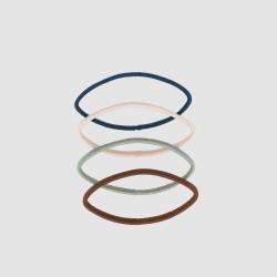 Elastiques plats couleur x12 2
