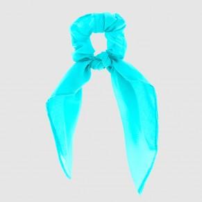 Chouchou Nœud Uni Bleu