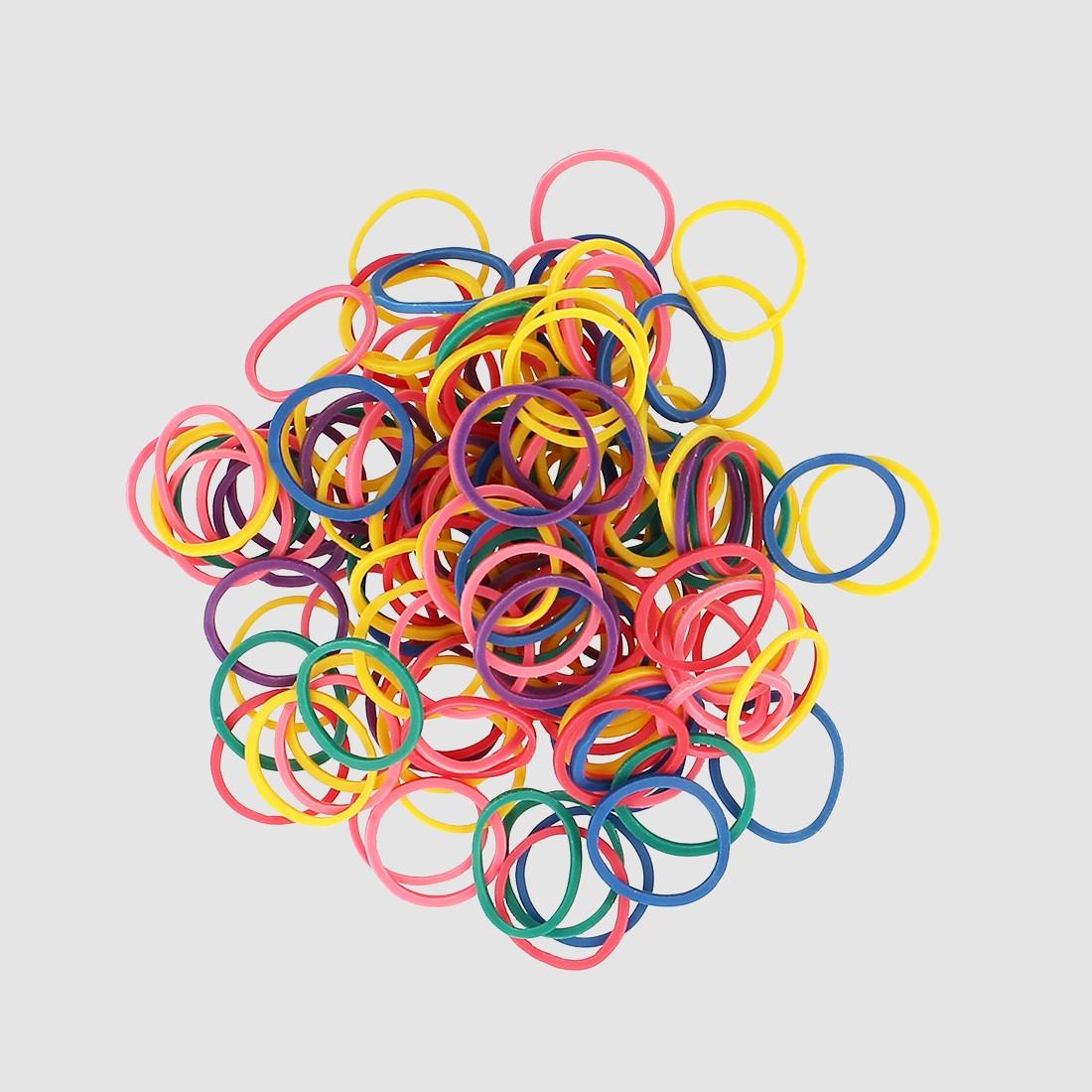 Mini élastiques colorés x300